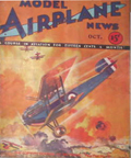 Model Airplane News Cover for October, 1932 by Jo Kotula Sopwith 5F.1 Dolphin
