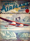 Model Airplane News Cover for October, 1933 by Jo Kotula Savoia-Marchetti S.55