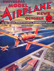 Model Airplane News Cover for October, 1934 by Jo Kotula Seversky SEV-3L