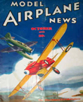 Model Airplane News Cover for October, 1936 by Jo Kotula Blackburn  F7-30