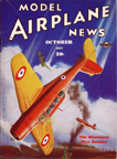 Model Airplane News Cover for October, 1937 by Jo Kotula Blackburn B-24 Skua