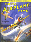Model Airplane News Cover for October, 1938 by Jo Kotula Brewster F2A Buffalo