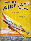 Model Airplane News Cover for October, 1939 by Jo Kotula Potez 630