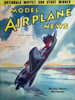 Model Airplane News Cover for October, 1941 by Jo Kotula Brewster SB2A-1 Dive Bomber Bucaneer/Bermuda