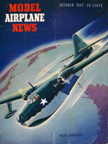 Model Airplane News Cover for October, 1942 by Jo Kotula Boeing XPBB-1 Sea Ranger
