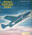 Model Airplane News Cover for October, 1944 by Jo Kotula Northrop P-61 Black Widow