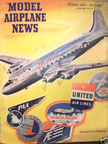 Model Airplane News Cover for October, 1945 by Jo Kotula Douglas C54 Skymaster