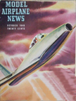 Model Airplane News Cover for October, 1946 by Jo Kotula Dassault Ouragon