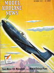 Model Airplane News Cover for October,1947 by Jo Kotula Curtiss X15-C Stingaree