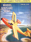Model Airplane News Cover for October, 1950 by Jo Kotula Colonial C-1 Skimmer