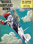 Model Airplane News Cover for October, 1955 by Jo Kotula Boeing F4B4 (P12)