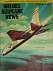 Model Airplane News Cover for October, 1956 by Jo Kotula Vought XF8U-1 Crusader I