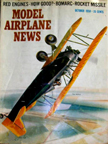 Model Airplane News Cover for October, 1958 by Jo Kotula Consolidated Model 14 Fleet Biplane