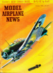 Model Airplane News Cover for October, 1959 by Jo Kotula Douglas SBD Dauntless