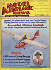 Model Airplane News Cover for September, 1931 by Jo Kotula Curtiss-Wright CW-1 Junior