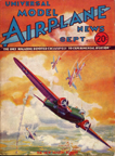 Model Airplane News Cover for September, 1933 by Jo Kotula Martin B-10 Bomber