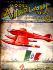 Model Airplane News Cover for September, 1934 by Jo Kotula Macchi-Castoldi MC-72