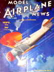 Model Airplane News Cover for September, 1935 by Jo Kotula WACO W.H.D.