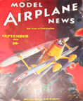 Model Airplane News Cover for September, 1936 by Jo Kotula Bleriot - Spad S.33