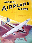 Model Airplane News Cover for September, 1940 by Jo Kotula Consolidated B-24 Liberator