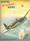 Model Airplane News Cover for September, 1942 by Jo Kotula Grumman TBF Avenger