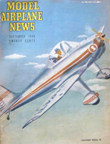 Model Airplane News Cover for September, 1946 by Jo Kotula Luscombe Model 10