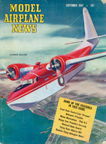 Model Airplane News Cover for September, 1947 by Jo Kotula Grumman Mallard