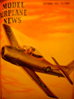 Model Airplane News Cover for September, 1950 by Jo Kotula North American T-28 Trojan Trainer
