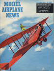 Model Airplane News Cover for September, 1954 by Jo Kotula Curtiss JN-4 Jenny
