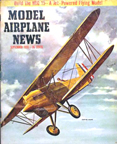 Model Airplane News Cover for September, 1955 by Jo Kotula Curtiss F6F Hawk