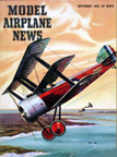 Model Airplane News Cover for September, 1956 by Jo Kotula Sopwith Triplane