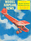 Model Airplane News Cover for September, 1958 by Jo Kotula Curtiss Robin