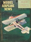 Model Airplane News Cover for September, 1959 by Jo Kotula Frank Smith Miniplane