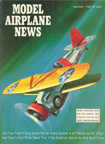 Model Airplane News Cover for September, 1962 by Jo Kotula Curtiss F11C Goshawk