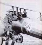 Eddie Rickenbacker with his  Nieuport Model 28