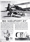 Radio Controled Nieuport 27 WWI fighter July 1963 Model Airplane News