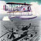 The Vought O2U Corsair as a floatplane