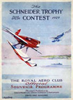 The Supermarine S6B Schneider Trophy Winner 1929 Scheider Race program