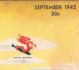 The Douglas TBD Devastator VT3 Squadron Emblem on the cover of the September 1942 issue of Model Airplane news