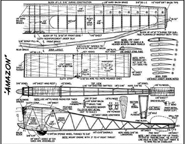 Plans for Amazon Model Airplane designed by Dr. Stan Hill