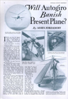 Popular Science Article will autogiro replace airplane