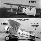 The Boeing F4B2 compared with the F4B4