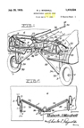 The Curtiss P-35 (Model 75) Hawk Boeing retractable landing gear patent 1,919,524