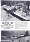 Tony Bonetti multi channel radio control P-39 Model Airplane News February 1966