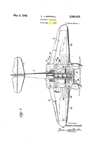 Burnelli Twin Engine Fighter Patent No. 2,281,673