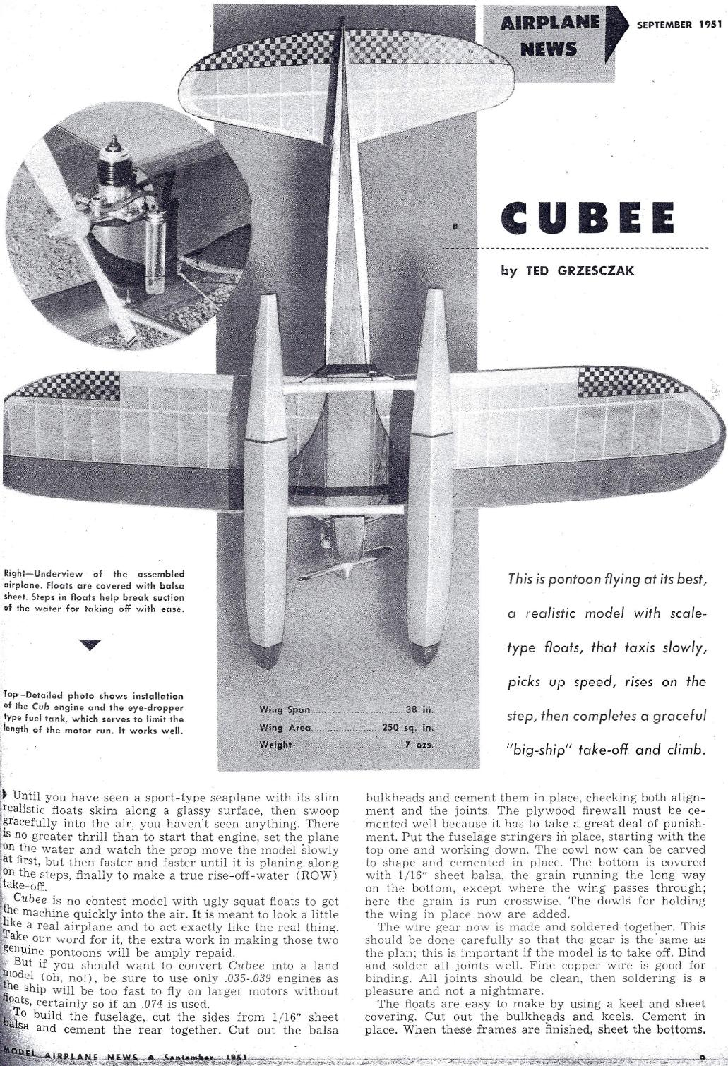 Model Airplane News Cover for September, 1949