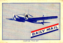 The Curtiss XA-18 Shrike on a trading card