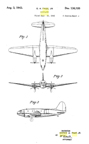 The Curtiss-Wright CW-20/C-46 Commando George Page Design Patent D-136,100