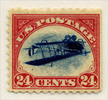 The Curtiss JN-4 Jenny inverted picture stamp