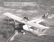 Wing walking on  The Curtiss JN-4 Jenny